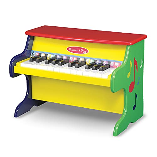 Melissa & Doug Learn-To-Play Piano With 25 Keys and Color-Coded Songbook, H: 18.5 x W: 13 x D: 11.5