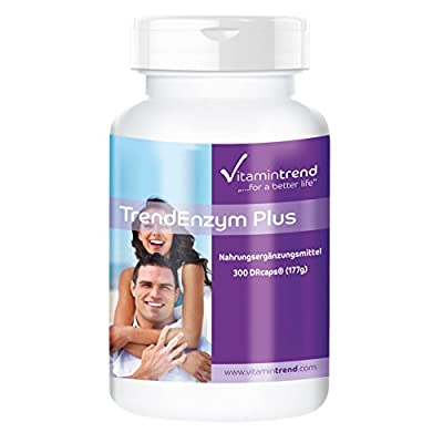 Trend Enzyme Plus - ! Bulk Pack for 3 Months ! - Enzyme Complex with bromelain, Trypsin, chymotrypsin and rutosid - 300 Capsules