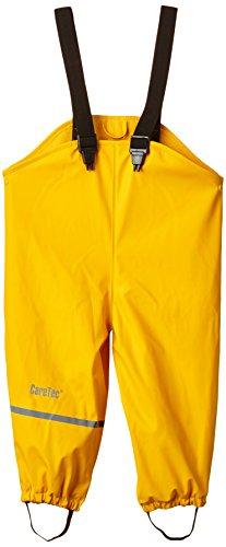 CareTec Kinder wasserdichte Regenlatzhose mit Fleecefutter (verschiedene Farben), Gelb (Yellow 324), 74