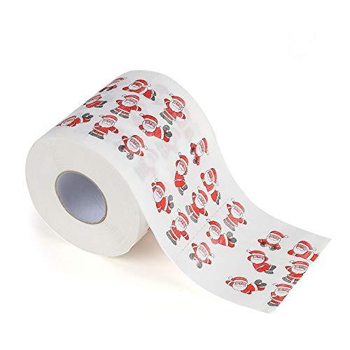 LILIGOD Weihnachten Toilettenpapier Thema Weihnachten Klopapier Weihnachtsmuster Serie Gedruckt Toilettenpapier Bedrucktes Rollenpapier (170 Blatt, 3 Schichten)