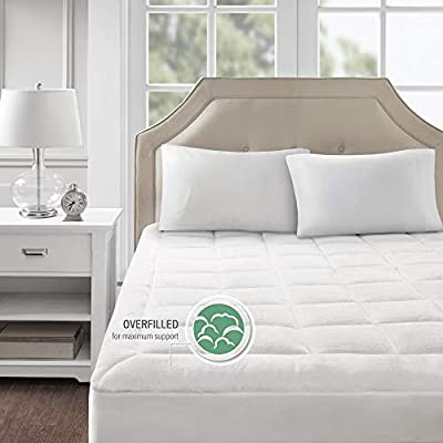 Madison Park Cloud Soft Overfilled Plush Bed Protector Waterproof Mattress Cover Twin white-MP16-3144-Parent