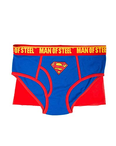 Briefly Stated Superman Caped Brief for Men Large Blue