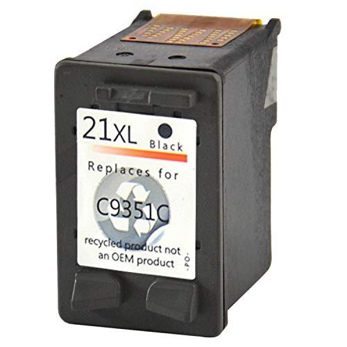 Bubprint Druckerpatrone kompatibel für HP21XL für DeskJet F370 F375 F380 F2180 F2280 F2200 F4180 OfficeJet 4315 J3680 PSC 1400 1410 1415, Schwarz