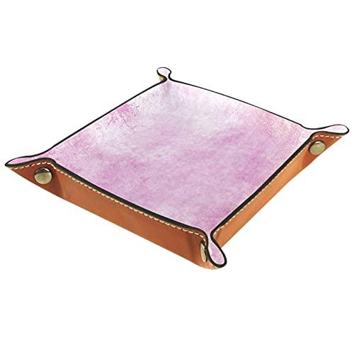 Watercolor1 - Bandeja de joyería de microfibra para colgar en la mesa de noche cuadrada para organizar anillos, pendientes, collares, baratijas y almacenamiento