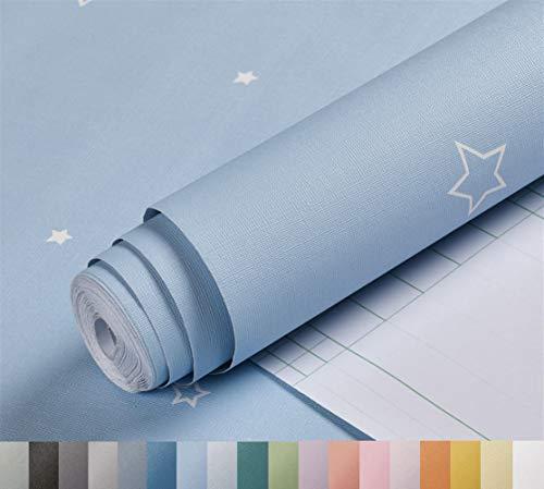 Liveinu Pegatinas para armarios de cocina, de PVC, autoadhesivas, para muebles, resistente al agua, para armarios, muebles, lámina autoadhesiva para armarios de cocina, color azul, 60 x 500 cm
