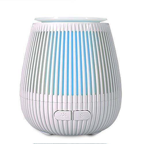 ZQY etherische oliediffuser, aroma-olie, luchtbevochtiger met koele nevel, 100 ml, met 7 ledkleuren veranderende lampjes en waterloos, automatische sluiting, kan in kantoor, familie, slaapkamer, woonkamer S