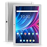 YITAOERA 10 inch Android 8.1 Tablet Unlocked Pad with Dual SIM Card Slot 10.1' IPS Screen 4GB RAM 64GB ROM 3G Phablet Built-in Bluetooth WiFi GPS Tablets(Metallic Silver)