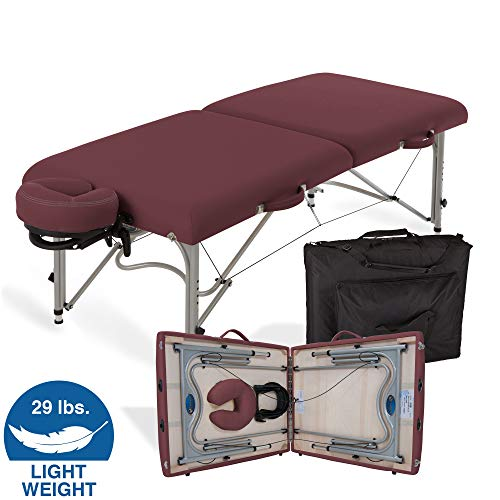 """EARTHLITE Portable Massage Table Luna - 30"""" Wide, CFC Free Professional Foam, Weighs Only 29lbs, Patented, Strong Aluminum Reiki Frame (Working Weight 750lbs)"""