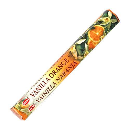 【HEM/ヘム】《バニラ・オレンジ》へキサパック/インド/お香/インセンス/スティック/6角(20本入)×1箱