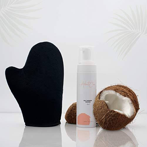 Selbstbräuner - Bräunungscreme inkl. Samt-Handschuh- Selbstbräunungs-Mousse, Self Tan Express . (Medium)