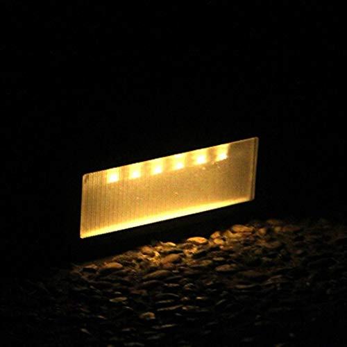 6 luci LED a energia solare con sensore da parete da giardino, scala a parete, impermeabile e apribile automaticamente, per cortile, balcone, strada, giardino, Plaza, bianco caldo