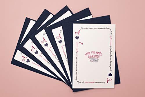 Annonce grossesse - annonce naissance : Kit de 5 cartes à gratter Notre famille s'agrandit -...