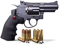 SNR357 - Sleek black, heavy-weight, full-metal body FUELED BY A 12-GRAM CO2 CARTRIDGE - Delivers speeds up to 400 fps with BBs and 500 fps with .177 caliber pellets COMPATIBLE WITH .177-CALIBER PELLETS OR TRADITIONAL STEEL BBs - Includes 6 reusable B...