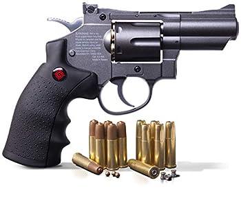Crosman SNR357 .177-Caliber Pellet/4.5 MM BB CO2-Powered Snub Nose Revolver Black/Grey