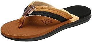 WSDMY Summer Beach Flip Flops Men Slippers Male Flats Sandals Outdoor Rubber Thong Beach Shoes Men Casual Shoes New Hot#30...