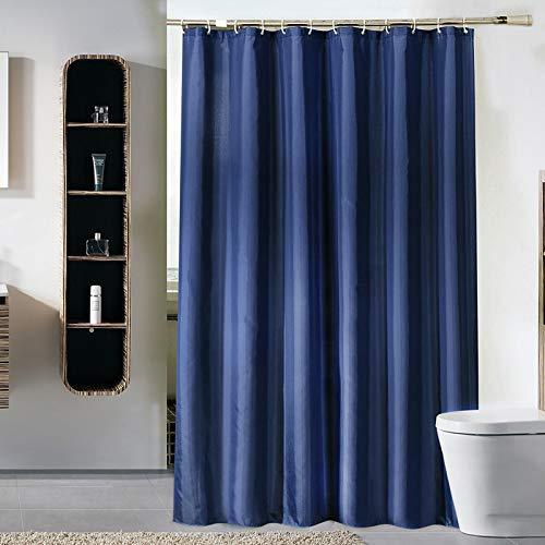 MRBJC Cortinas de ducha repelentes al agua, color sólido, antimoho, de poliéster, decorativas, con ganchos, lavable a máquina, 150 x 200 cm