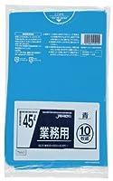 ジャパックス 業務用ポリ袋 45L TM41 0.025mm 青 10枚×60冊入