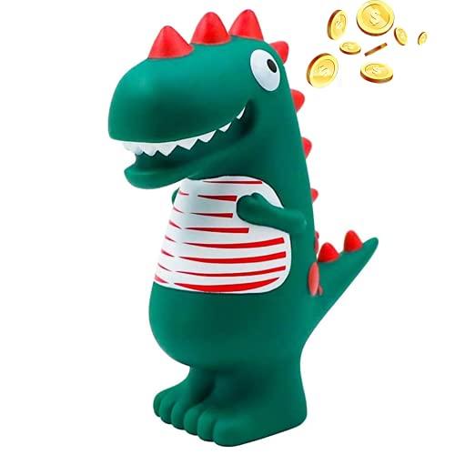 Hucha Dinosaurio, Hucha Infantil, Contador De Monedas, Dinosaurio Verde De Dibujos Animados, Resistente A Roturas, úNico, Regalo De CumpleañOs De Juguete Lindo Para NiñOs