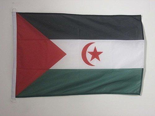AZ FLAG Bandera de Sahara Occidental 90x60cm Uso Exterior - Bandera REPÚBLICA ÁRABE SAHARAUI DEMOCRÁTICA 60 x 90 cm Anillos