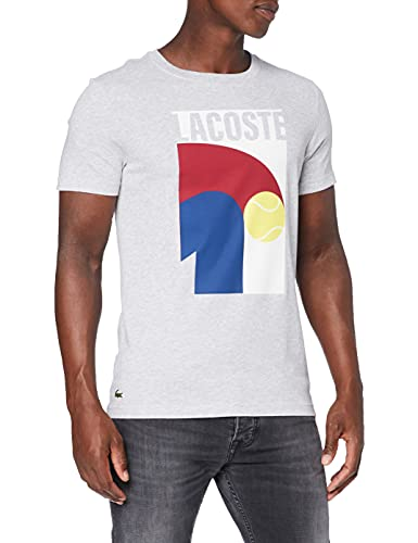 Lacoste TH9683 T-Shirt, Argent Chine, XL Uomo