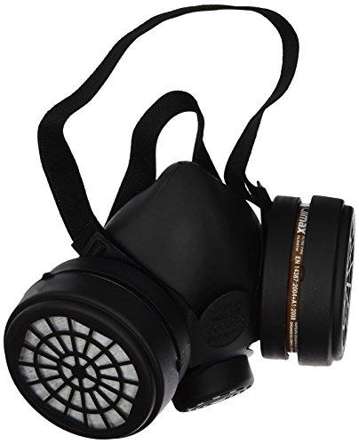 Ferko Safety Equipment AR-142/40F Atemschutzmaske mit 2 Filtern A1, Schwarz