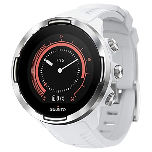 Suunto 9 Baro - Reloj Multideporte GPS, Unisex, Sin correa de frecuencia cardíaca, Blanco, 24.5 cm