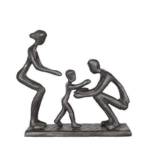 Aoneky Estatua Familiar Metal - Figura Decorativa