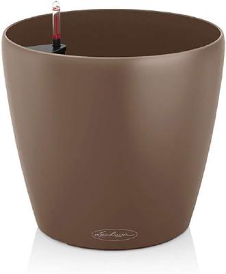 Lechuza 13203 Owl - Vaso di Fiori Classico Colore 28 Kit Completo, la Noce Moscata Colore (28 x 26)