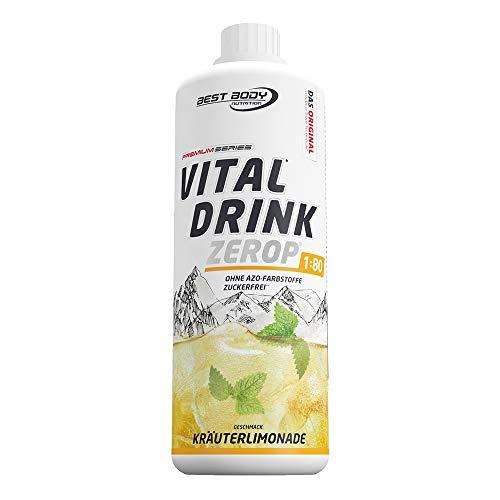 Best Body Nutrition Vital Drink ZEROP® - Kräuterlimonade, zuckerfreies Getränkekonzentrat, 1:80 ergibt 80 Liter Fertiggetränk, 1000 ml