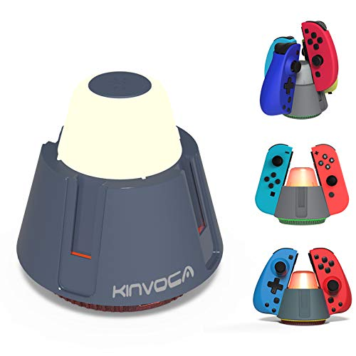 Switch Joycon Controller Charger, KINVOCA Charging Dock Compatible with Nintendo Switch Joy Con and 3rd Party Joycon, LED Charging Indicator