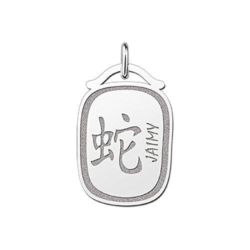 Namesforever hanger Chinese sterrenbeeld slang van zilver met naam gravure