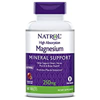 Natrol High Absorption Magnesium Cranberry Apple Natural Flavor 250 mg 60 Tablets