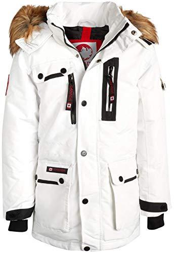 'Canada Weather Gear Mens Heavyweight Teflon Parka Jacket with Removable Hood (White, Medium)'