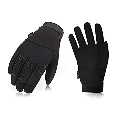 Vgo 32? or Above 3M Thinsulate C40 Lined Winter Warm Synthetic Leather Gloves(1Pair,Black,SL8270F)