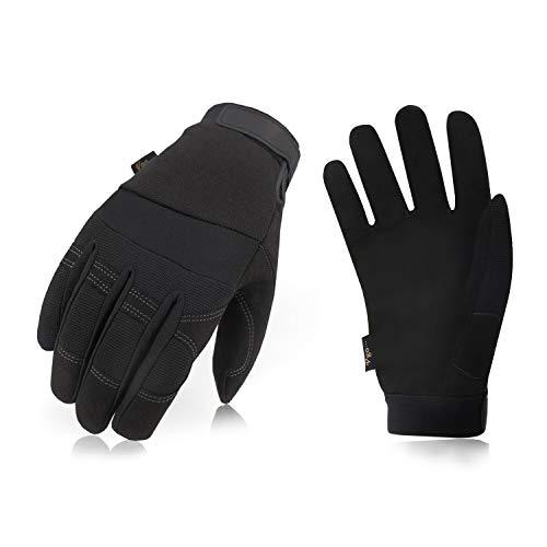 Vgo SL8270F Synthetik-Leder-Handschuhe, warm, kalte Aufbewahrung, für den Winter, Größe M/L/XL/XXL, Schwarz, 3 Paar, schwarz