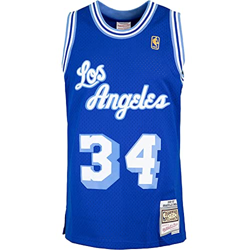 Mitchell & Ness Swingman Shaquille O´Neal L.A. Lakers 96/97 - Camiseta (talla XL), color azul