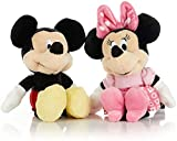 Disney Baby Mickey and Minnie Mouse Stuffed Animal Plush Toy Mini Jingler, 6.5 inches 2 Set