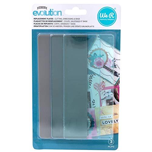 We R Memory Keepers 0633356607366 Placa de substituição Mini Evolution Tool (3 peças), várias