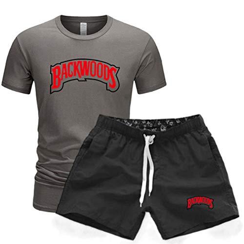 Backwoods Camiseta De Manga Corta De Verano Unisex Traje Deportivo Casual Pantalones Cortos De Cinco Puntos + Camiseta Unisex XXL
