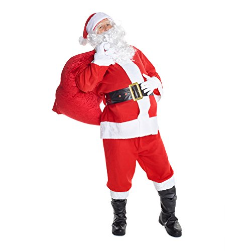 Morph Mens Santa Claus Costume Father Christmas Suit for Men Festive Outfit - Large