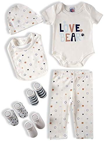 Kit 7 peças para bebê Tip Top Bebê Unissex
