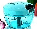 Bivisor Manual Food Chopper with 3 Blades, Hand Pull Blender Grinder Food Processor