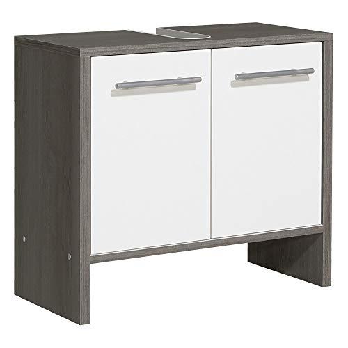 Pelipal Waschbeckenunterschrank, Weiß Glanz/Graphit Struktur Nachbildung, 28x62x55 cm