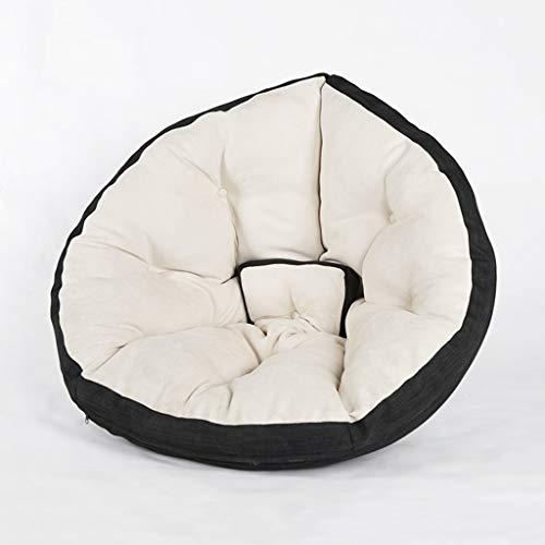 JIE KE Bean Bag stol inomhus utomhus barn vuxen lek stol trädgård golvkudde bekväm soffa (färg: Svart vit)