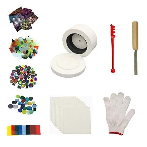 ZHENWOFC 10pcs petit four à micro-ondes kits de fusion bricolage verre ensemble de bijoux fait main art artisanat ornement décor outil Pièces de matériel