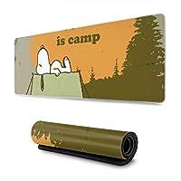 マウスパッドスヌーピーハピネスはキャンプは、大きく、防水性があり、洗える、耐久性があり、滑りにくいオフィスです。豪華でスタイリッシュ、そしてかわいい30x 80x 0.3cm