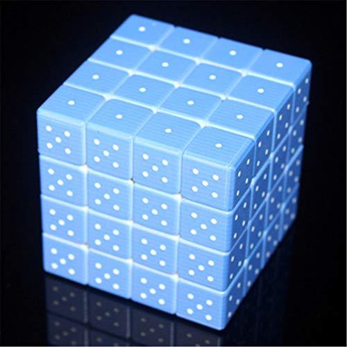 Rubiks kubus 3D-reliëf 4 * 4 * 4 * Schaatsen Educatieve jaloezieën Educatief speelgoed beschikbaar voor kinderen 3D IQ Game Relief-effect Sudoku Braille-kubus Puzzel Blinde kubus Kubus Breinbreker Blauw