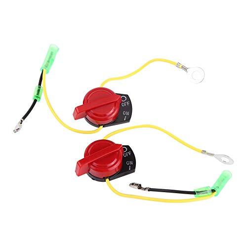 Interruptor del motor de la motocicleta 2 piezas Interruptor de encendido y apagado del motor de la motocicleta