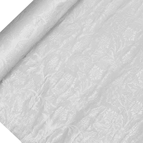 Paper Mart Textured Floral Foil Wrapping Paper White 20 x 10 Yd product image