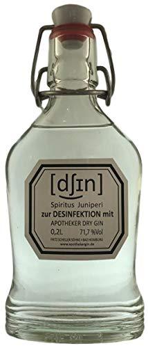 Spiritus Juniperi zur Desinfektion mit Apotheker Dry Gin 71,7% 0,2L (113,40€/L)